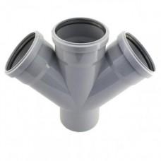 Крестовина канализационная Европласт110*110*110/45 (внутренняя)