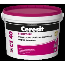 Краска структурная акриловая CERESIT СT-40 10 л