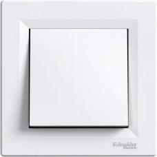 Выключатель 1-клавишный белый проходной Schneider Asfora EPH0400121