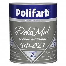 Грунтовка  Polifarb DekoMal  ГФ-021 ГОСТ (Полифарб)  0,9 кг/серая