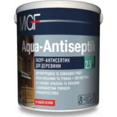 Лазурь-антисептик для древесины MGF Aqua Antiseptik (белая) (10 л.)