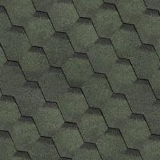 Битумная черепица Шинглас (Shinglas) финская серия Сота зеленый (3 кв.м/уп)