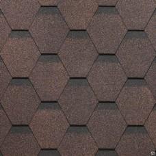 Битумная черепица Roofmast Соната (коричневый/3 кв м/уп)