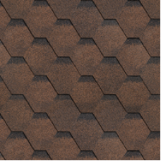 Битумная черепица Шинглас (Shinglas) финская серия Сота коричневый (3 кв.м/уп)