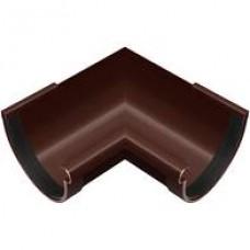 Угол желоба внутренний RAINWAY (90/130мм/коричневый)