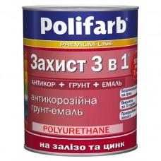 Грунт-эмаль Polifarb защита 3в1 (кор.шок.RAL8017) 2,7кг