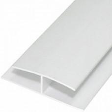 Пластиковая полоса соединительная белая (8мм*6м.)