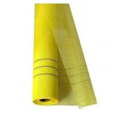 Сетка штукатурная Fiber mesh желтая 6*5мм (50м.кв 160гр/м2)