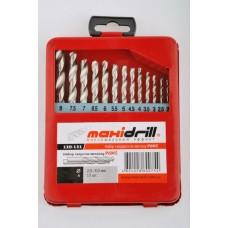 Набор сверл по металлу Р6М5 Maxidrill (1-10 мм/19шт)