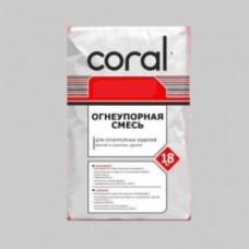 Клей для плитки жаростойкий Коралл СТ-62 (18кг)