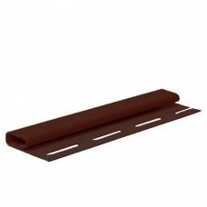 Планка FaSiding финишная (коричневая)