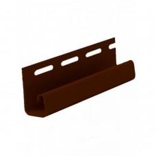 Планка FaSiding J-trim (коричневая)
