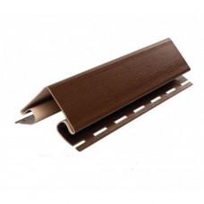Планка FaSiding угол наружный (коричневый)
