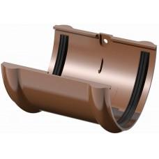 Соединитель желоба коричневый Технониколь (125мм)