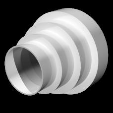 Соединитель круглых воздуховодов универсальный Омис (D150/125/100/80)