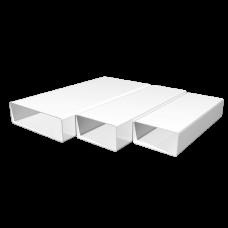 Воздуховод прямоугольный ПВХ Омис (55х110/L=0.5м)