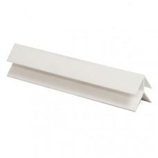 Пластик угол наружный белый (8мм)