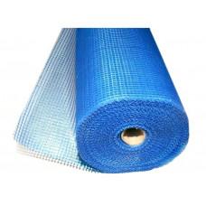 Сетка штукатурная Fiberglass синяя 6*5мм (50м.кв 145гр/м2)