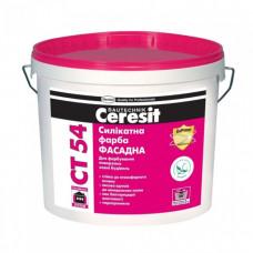 Силикатная краска Фасадная  Ceresit CT-54 (10л)