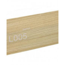 Плинтус пластиковый Line Plast L005 (клен) (2,5м)