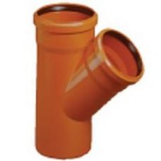 Тройник канализационный М-Пласт 160*110/45 (наружный)