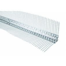 Уголок алюминиевый перфорированный с сеткой (2,5 м)