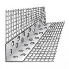 Уголок ПВХ перфорированный с сеткой  (2,5 м)