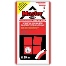 Эластичный клей для систем теплоизоляции MASTER SUPER (25 кг)