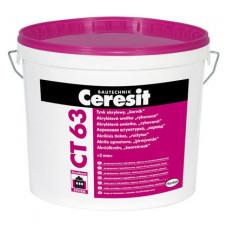 "Декоративная штукатурка ""Короед"" CERESIT CT-63 (зерно 3,0мм) (25 кг)"