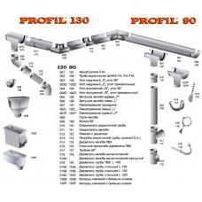 Труба водосточная (100*3000) 002 PROFIL