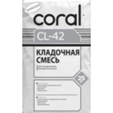 Клей для ячеястых блоков КОРАЛ CL-42 (Зима) (25 кг)