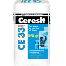 Затирка для швов 2-5 мм Ceresit CE-33 (белый) 2 кг