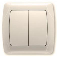Выключатель 2-клавишный кремовый Viko KARMEN