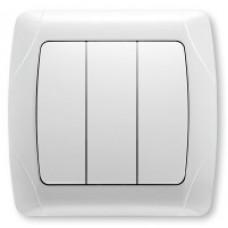 Выключатель 3-клавишный белый Viko KARMEN