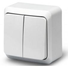 Выключатель LUXEL наружный 2-клавишный