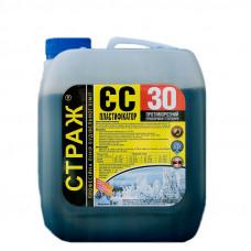 Пластификатор противоморозный ускоритель твердения СТРАЖ ЕС-30 (10л)